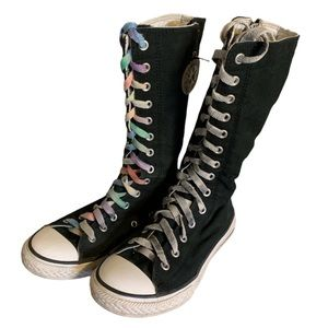 Converse Black Super High Sneakers - Girl's Size 3